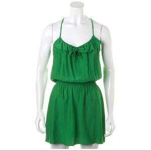 Parker Green Silk Dress small